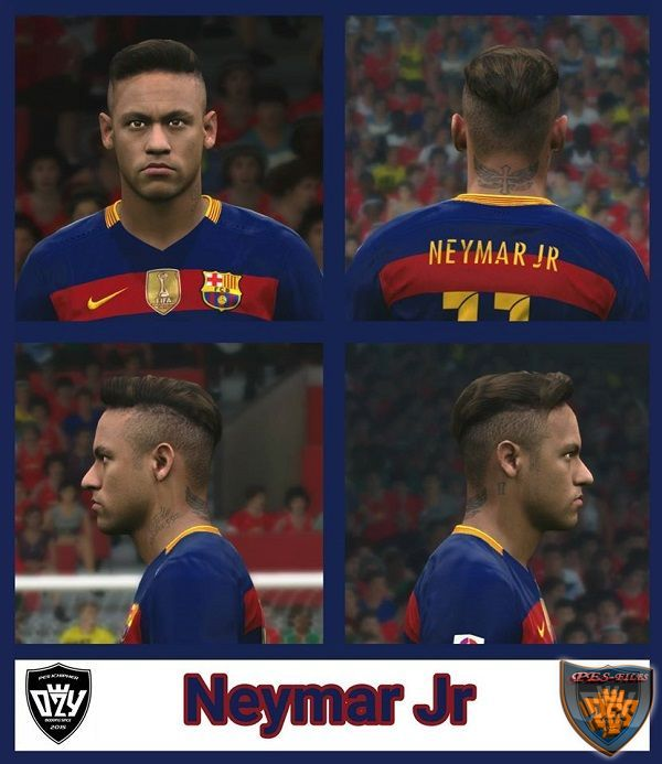PES 2016 Neymar Jr Face by Ozy_96 PES MOD