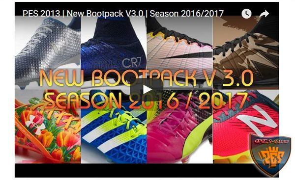 PES 2013 New Bootpack V3.0 Season 2016/17