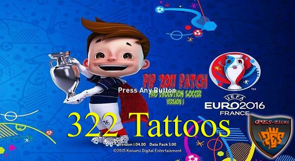 PES 2016 322 Tattoos for PES International Patch V1 by Tran Ngoc