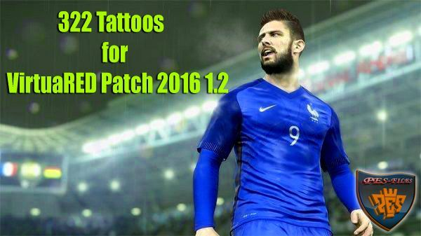 PES 2016 322 Tattoos for VirtuaRED Patch 2016 1.2