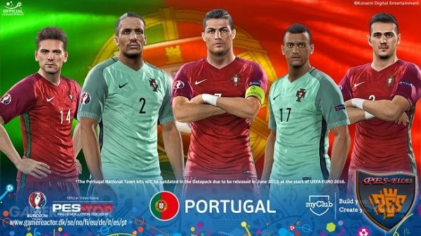 PES 2016 FacePack Portugal EURO 2016 23 Players by Tran Ngoc
