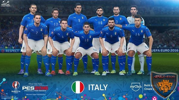 PES 2016 FacePack Official Italy Euro 2016 by Tran Ngoc