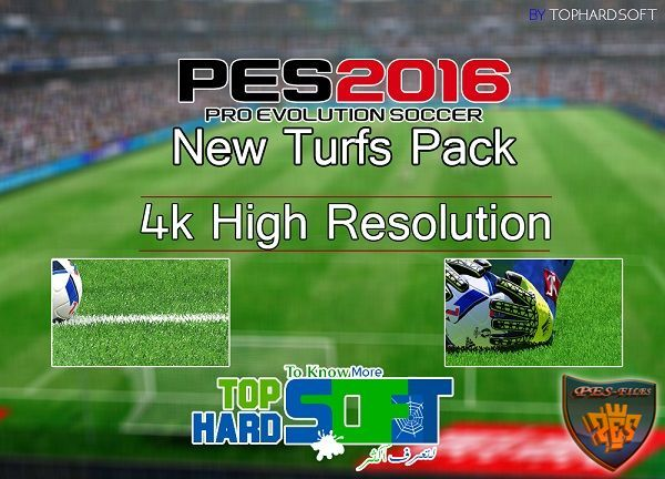 Pes 2016 New Turfs Pack By TopHardSoft