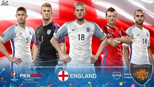 PES 2016 FacePack Official England Euro 2016 by Tran Ngoc