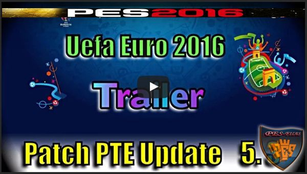 PES16 PTE Patch Update 5.3 UEFA Euro 2016