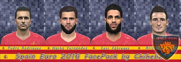 PES 2016 Spain Euro 2016 Face Pack