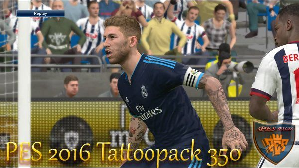 PES 2016 Tattoopack 350 Marceu +v3 for PTE 5.1
