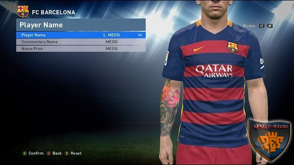PES 2016 3DM Crack 1.05.00 Suport Tattoo Pack 400