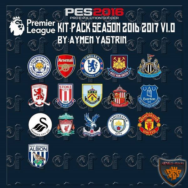 PES 2016 Premier League 2017 KitPack V1.0 by YastRin