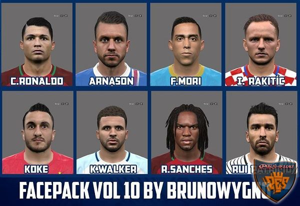 PES 2016 Facepack Vol 10 by Brunowygno