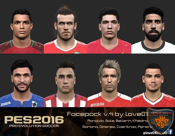 PES 2016‬ Facepack v.4 by love01010100