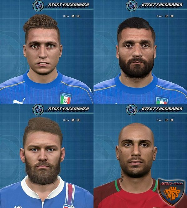 PES 2016 Facepack EURO2016 By Steet Facemaker