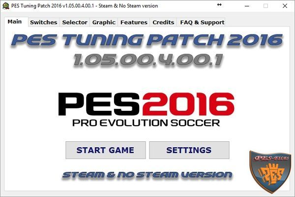 PES 2016 Tuning Patch 2016 v1.05.00.4.00.1 AIO
