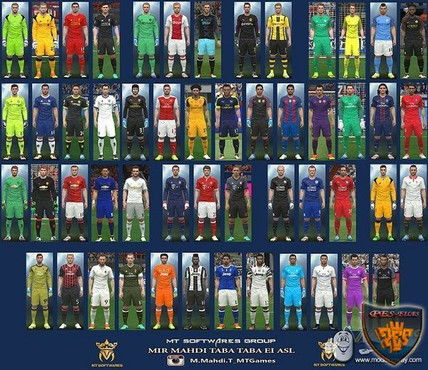 PES 2016 New Kit 2016-17 v.1.8 by MT Games 1991