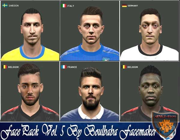 PES 2016 Face Pack Vol. 5 By Boulbaba Facemaker