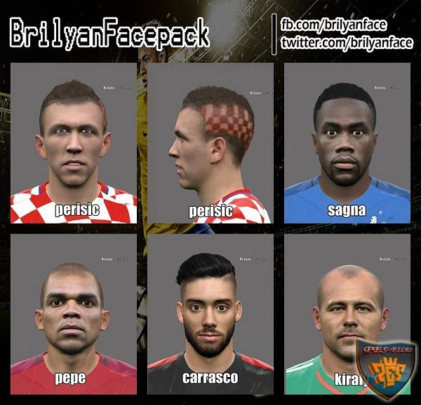 PES 2016 Euro 2016 Facepack v3 by brilyan
