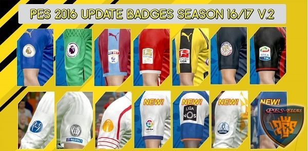 PES 2016 Update Badges Season 2016-17 V.2 by Sarjono