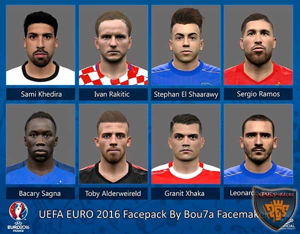 PES 2016 EURO 2016 Facepack By Bou7a Facemaker
