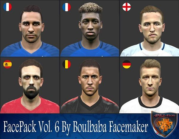 Pes 2016 FacePack Vol. 6 By Boulbaba Facemaker
