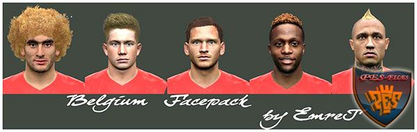PES 2016 Belgium Facepack by EmreT