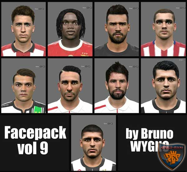 PES 2016 Facepack Vol 9 by Bruno Wygno