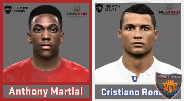 PES 2016 Anthony Martial and Cristiano Ronaldo Face