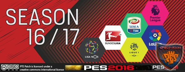 PES 2016 PTE Patch 6.0 Final Version (13.07.2016)