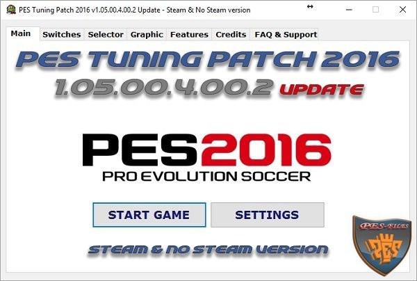 PES Tuning Patch 2016 v1.05.00.4.00.2 Update 12.07.16