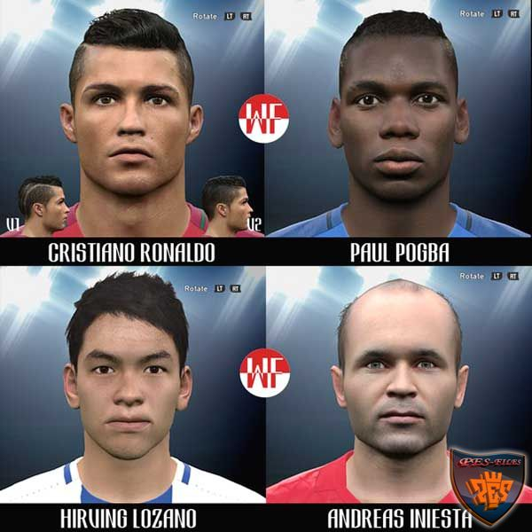 Pes 2016 2nd Facepack by WER Facemaker