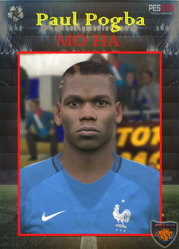Paul Pogba (Manchester United) Face by Mo Ha