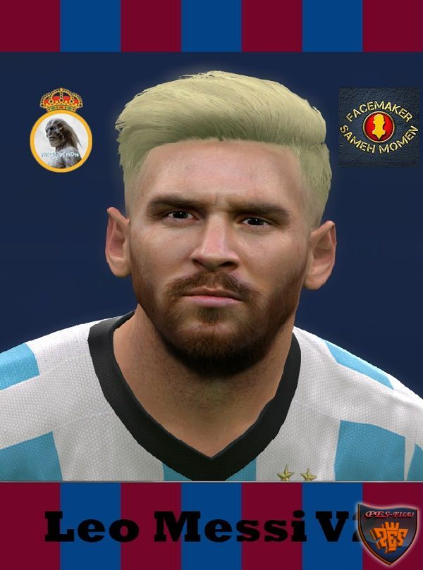 PES 2016 Leo Messi V2 Face by The WHite Demon