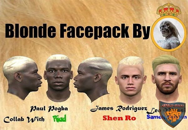 Blonde Facepack Pes 2016 By The White Demon