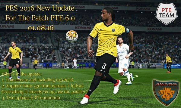 PES 2016 New Update For The Patch PTE 6.0