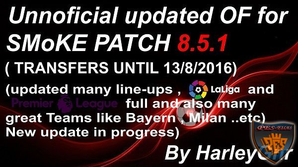 PES 2016 Updated 2 for SMoKE Patch 8.5.1