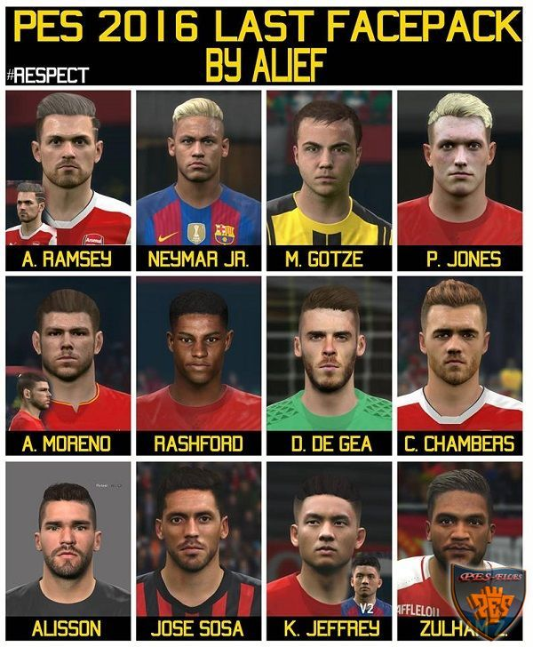 PES 2016 Last Facepack by Alief