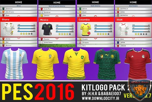 PES 2016 Kit Logo Pack 2016-17 HD v07 By Downlodcity