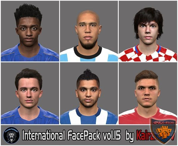 PES 2016 International Facepack vol.15 by Kairzhanov