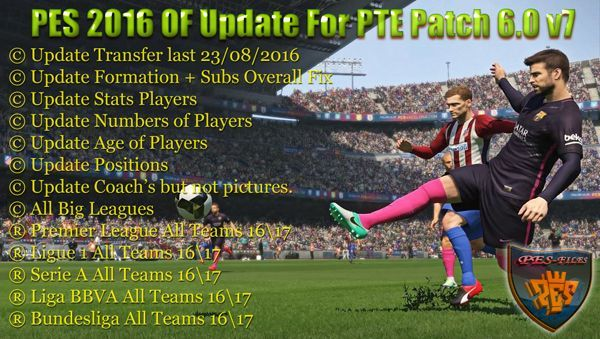 PES 2016 OF Update For PTE Patch 6.0 v7 by niniboy