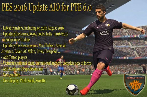 PES 2016 Update AIO for PTE 6.0 by Hai Trangquoc