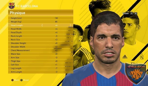 Luis Suarez Pes 17 Converting Face for Pes 16