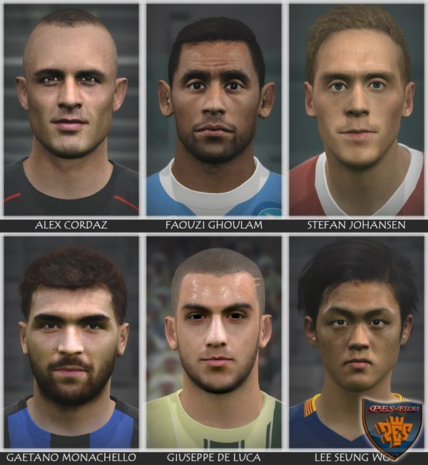 Another One Faces Pack For Pes 2016 by Bono10
