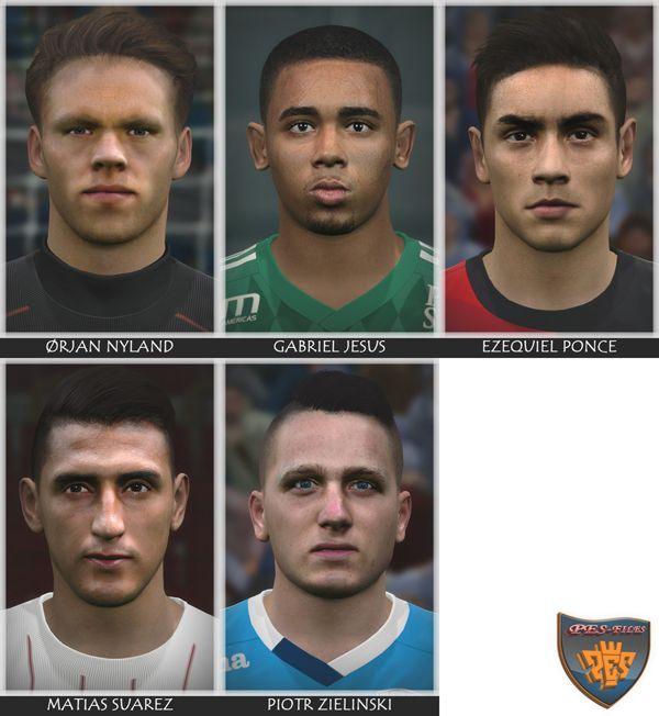 Next Faces Pack For Pes 2016 by Bono10