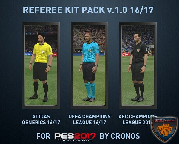 Referee Kit Pack v1.0 Adidas Generics 16/17 by cRoNoS