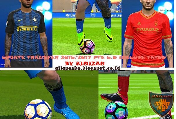 PES 2016 Update Transfer Season 2016/17 For PTE Patch 6.0