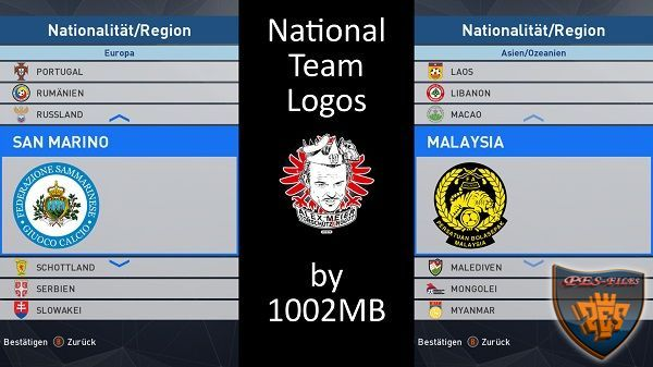 PES 2017 National Team Logos by 1002MB