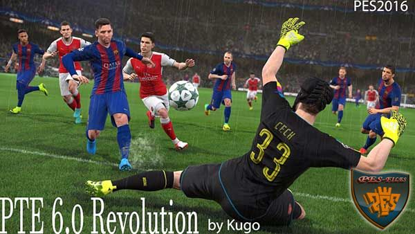 PTE 6.0+ Revolution for Pes 2016 2017 Gameplay