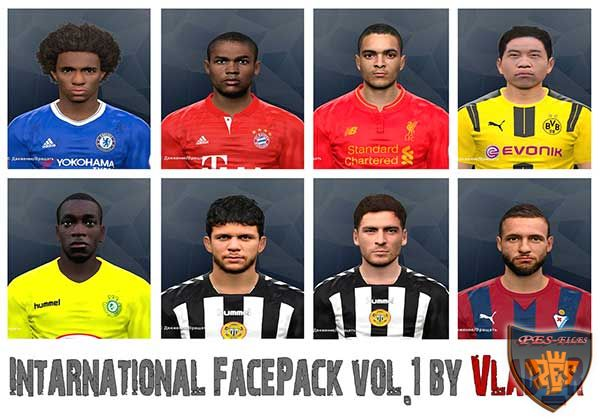PES 2017 International FacePack vol.1 by Vlad_R