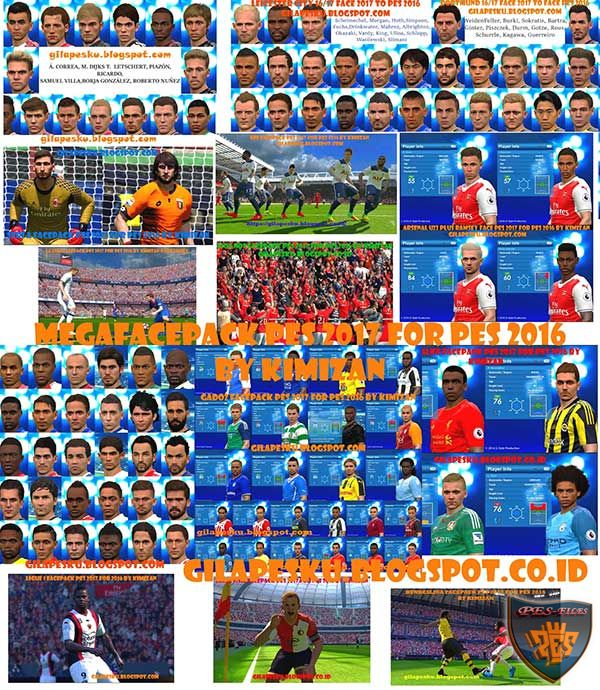 Megafacepack PES 2017 for PES 2016 by Kimizan