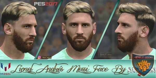 PES2017 Leo Messi Face by Amir.Hsn7