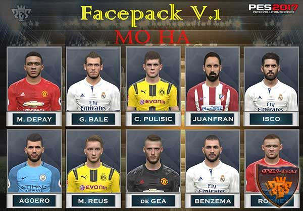 PES 2017 Face Pack v.1 by Mo Ha